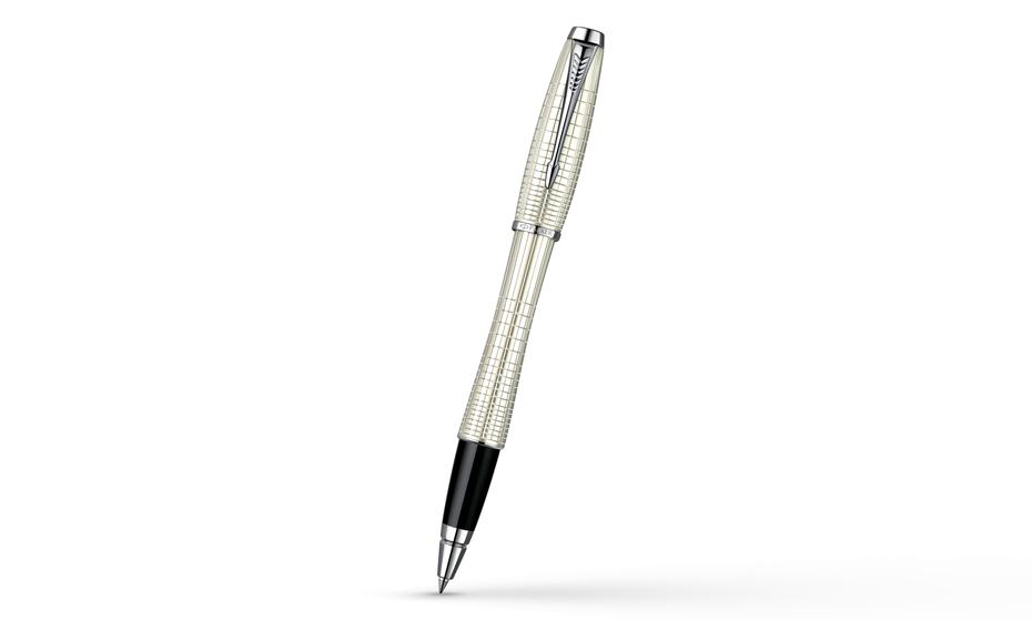 Чернильная ручка Parker Urban Premium Pearl Metal Chiselled лаковый корпус с гравировкой и отделкой хромом, арт. S0911440