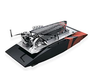 Музыкальная шкатулка Reuge Winch Sport, матовая сталь, черный, красный, лак  AXA.72.5070.000
