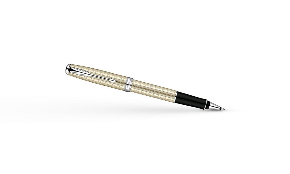 Чернильная ручка Parker Sonnet Pearlised Sterling Silver, серебро 925 проб  S0912510