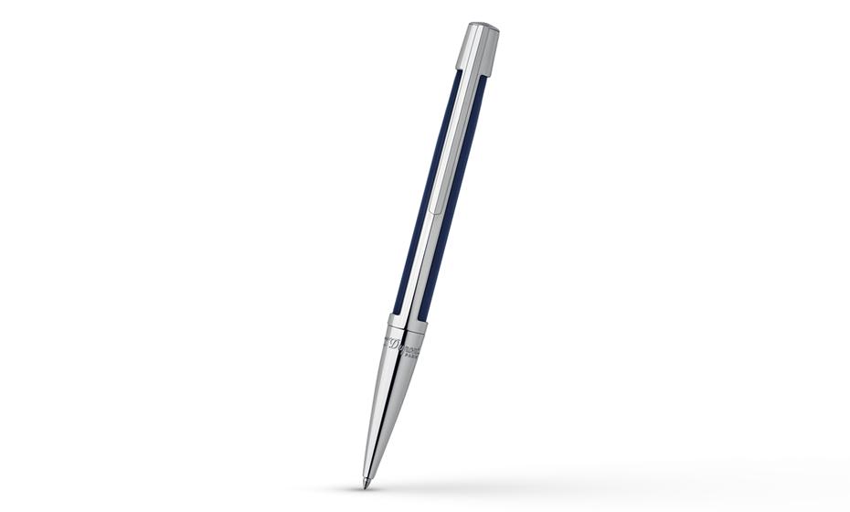 Шариковая ручка S.T. Dupont Defi, темно-синий композит, металл, палладий  405701