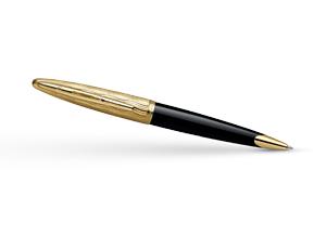 Шариковая ручка Waterman Carene Essential Black GT, черный лак, позолота 23  S0909810