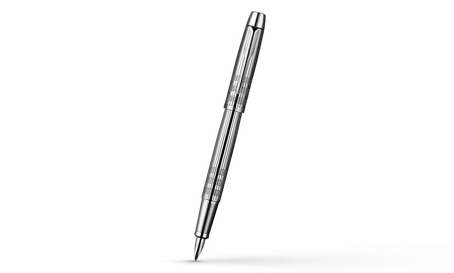 Перьевая ручка Parker IM Premium Shiny Chrome, нержавеющая сталь, покрыт  S0908640