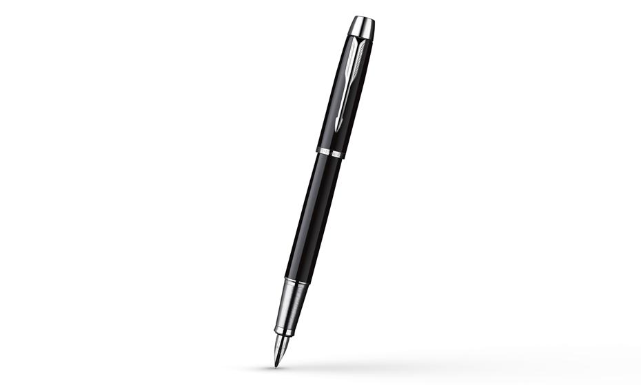 Перьевая ручка Parker IM Deep Black CT, корпус из нержавеющей стали, черный лак, арт. х  S0856180