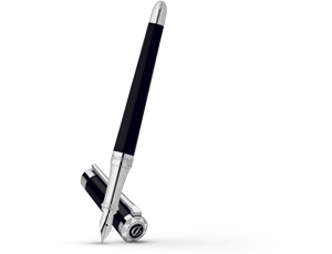 Перьевая ручка S.T. Dupont Liberte, золото, черный лак, палладий  460674