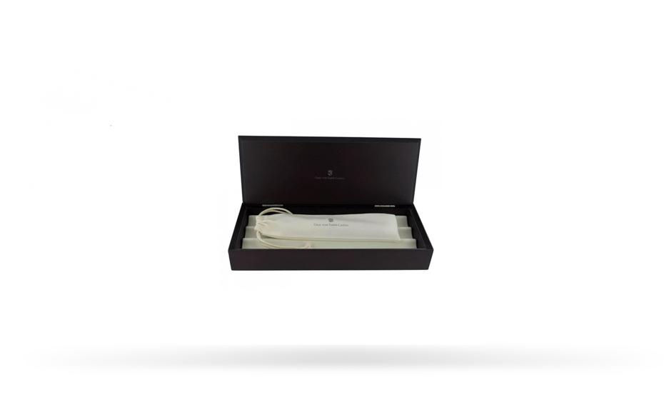 Перьевая ручка Graf von Faber-Castell Guilloche Black, перо F золото 18К, драгоценная см  146540