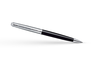 Шариковая ручка Waterman Hemisphere Deluxe Black CT, лак, гравировка, палла  S0921150