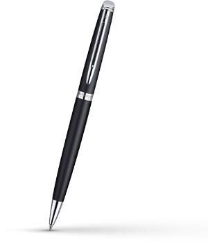 Шариковая ручка Waterman Hemisphere Matt Black CT, матовый лак, хром  S0920870