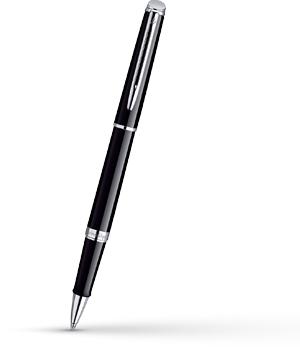 Чернильная ручка Waterman Hemisphere Essential Black CT, лак, хром  S0920550
