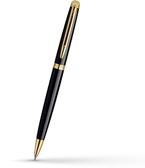 Шариковая ручка Waterman Hemisphere Mars Black GT, лак, позолота 23К  S0920670