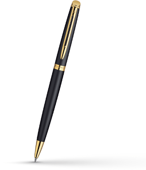Шариковая ручка Waterman Hemisphere Matt Black GT, матовый лак, позолота 23  S0920770