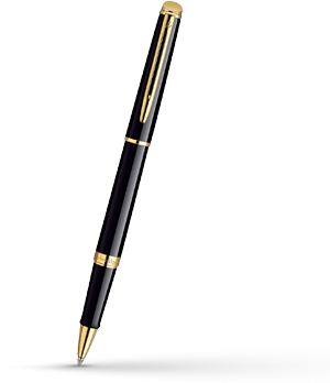 Чернильная ручка Waterman Hemisphere Mars Black GT, лак, позолота 23К  S0920650