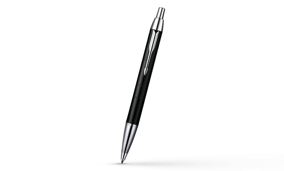 Шариковая ручка Parker IM Premium Matt Black CT, лаковый корпус с рисунком с отделкой хромом, арт. S0949680