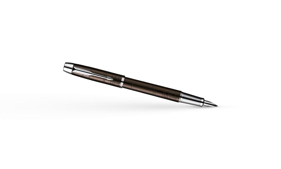 Перьевая ручка Parker IM Premium Metallic Brown CT, нержавеющая сталь, л  S0949710