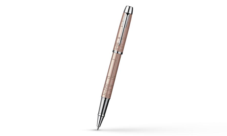 Чернильная ручка Parker IM Premium Metallic Pink CT, лак, рисунок, хром  S0949770