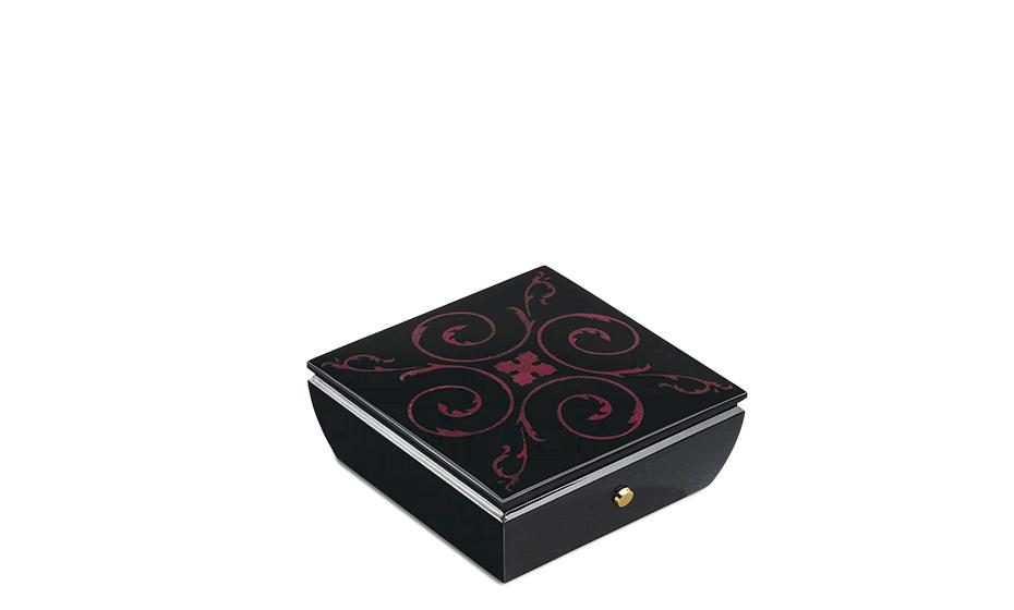Музыкальная шкатулка Reuge Fairy Tale, черная, инкрустация арабески  AXA.36.4248.001