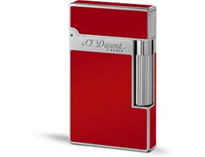 Зажигалка S.T. Dupont Ligne 2, красный китайский лак, розовая позолота  16396