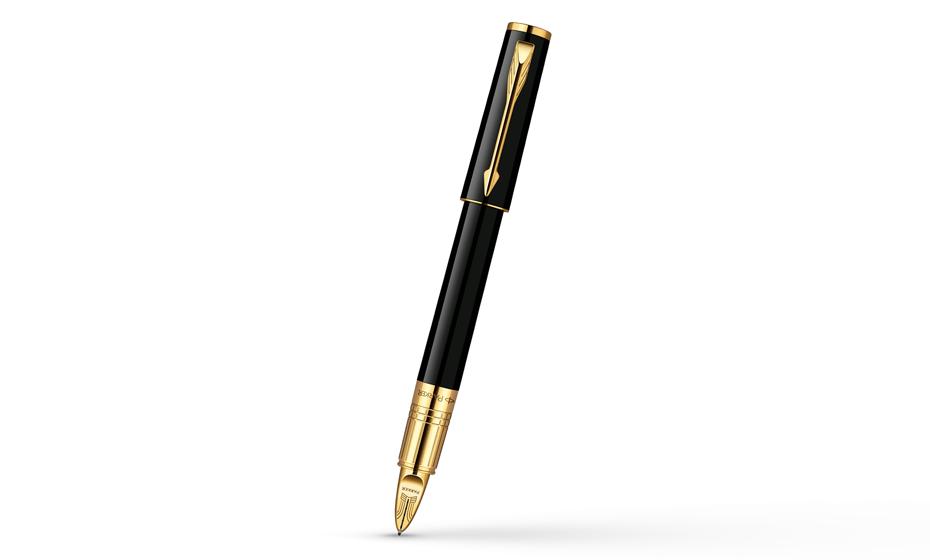 Шариковая ручка Parker Ingenuity Small Black GT, черный глянцевый лак, по  S0959040