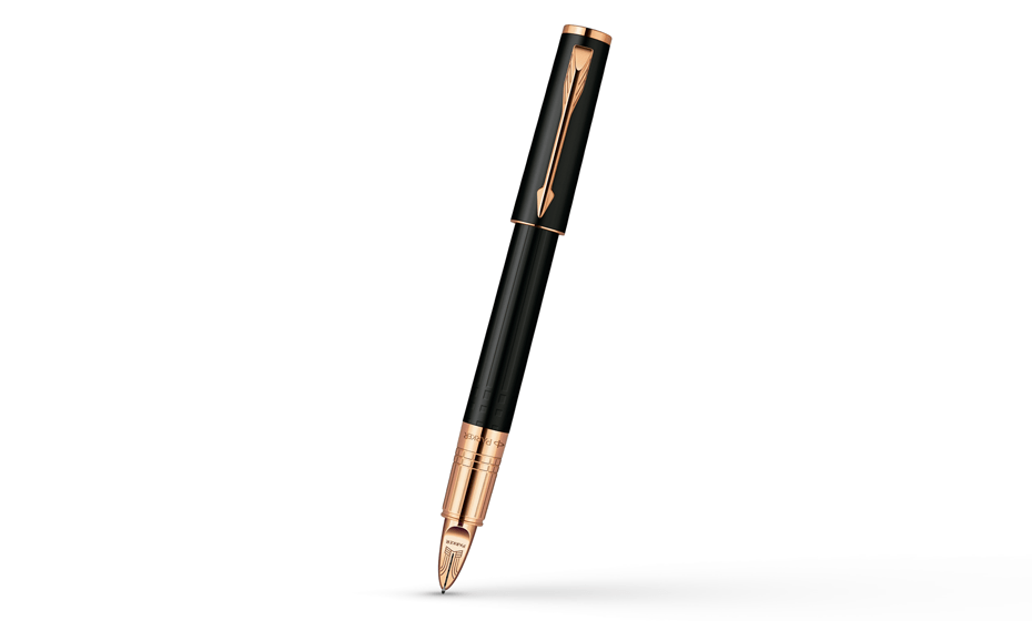 Шариковая ручка Parker Ingenuity Small Black Rubber PGT, черный каучук, м  S0959060