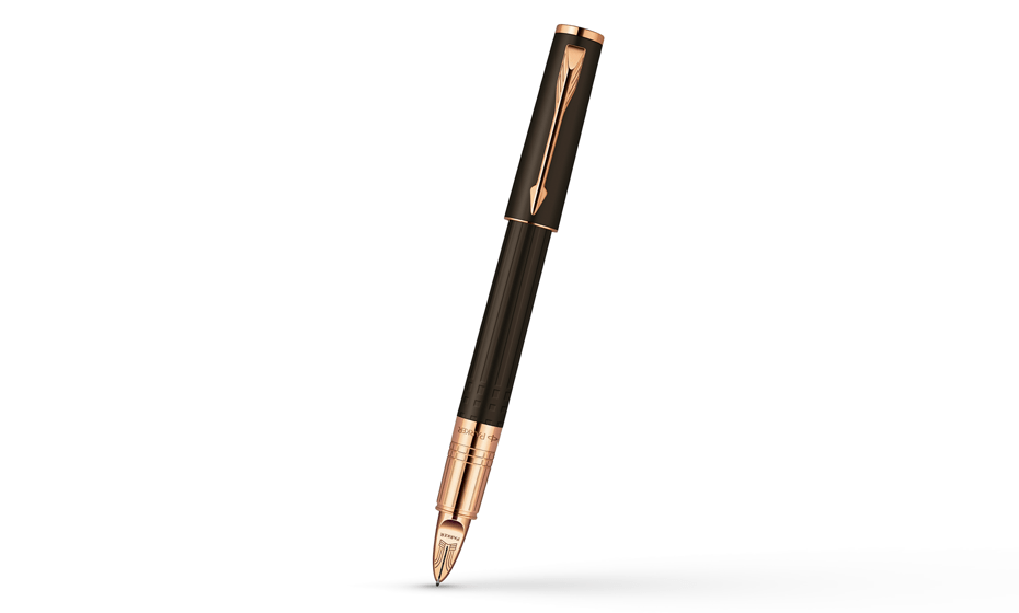 Шариковая ручка Parker Ingenuity Small Brown Rubber PGT, шоколадный каучу  S0959070