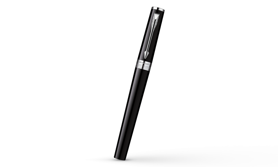 Шариковая ручка Parker Ingenuity Large Black CT, черный гянцевый лак, хро  S0959150
