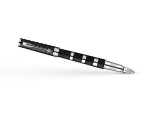 Шариковая ручка Parker Ingenuity Large Black Rubber & Metal Chrome, черны  S0959170