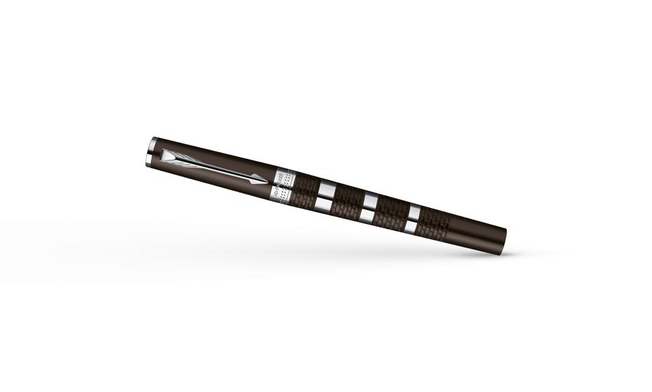 Шариковая ручка Parker Ingenuity Large Brown Rubber & Metal Chrome, шокол  S0959180