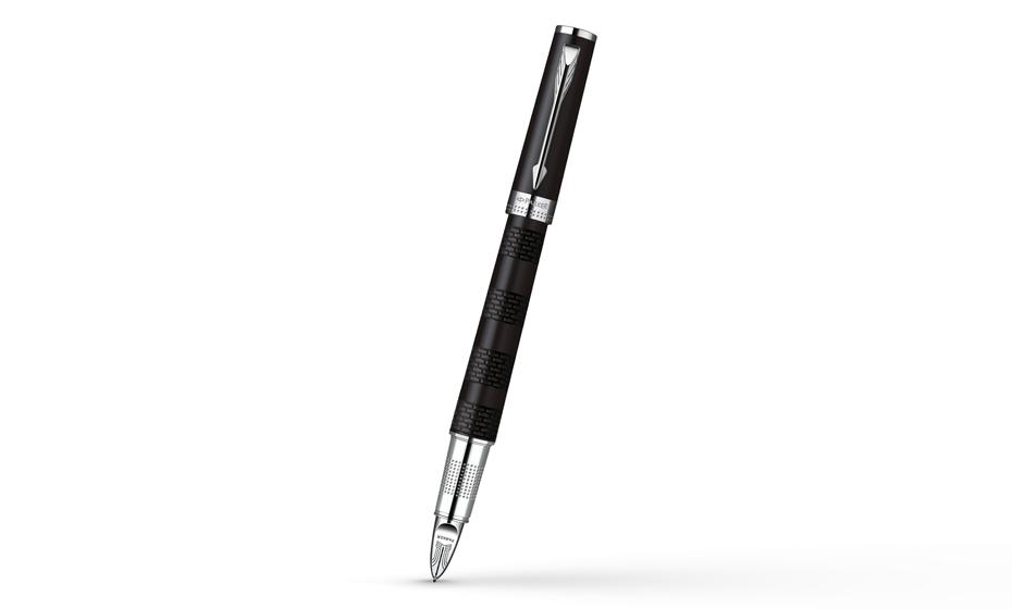 Шариковая ручка Parker Ingenuity Large Black Rubber CT, черный каучук, ма  S0959190