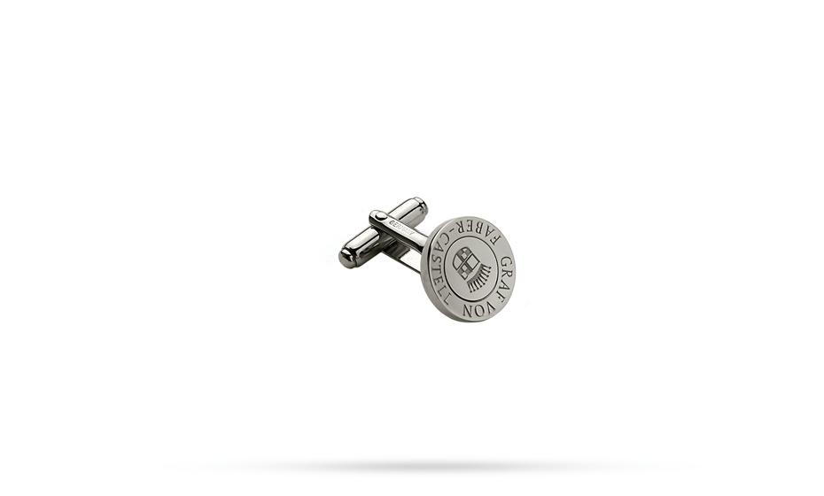 Запонки Graf von Faber-Castell круглые, платиновое напыление  118970
