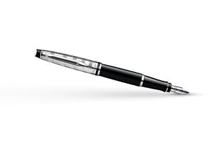 Перьевая ручка Waterman Expert 3 DeLuxe Black CT, нержавеющая сталь, черны  S0952300