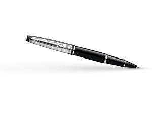 Чернильная ручка Waterman Expert 3 DeLuxe Black CT, черный лак, гравировка,  S0952340