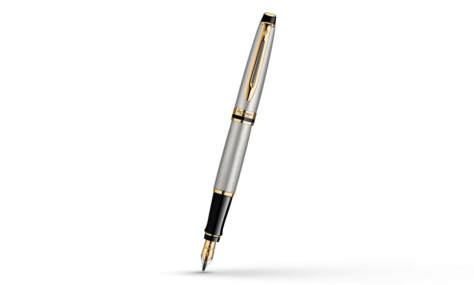 Перьевая ручка Waterman Expert 3 Essential Metallic GT, нержавеющая сталь,  S0951940 3501170951941