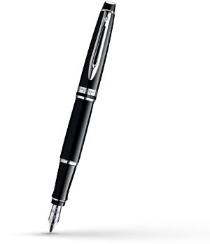 Перьевая ручка Waterman Expert 3 Black Laque CT, нержавеющая сталь, черный  S0951740