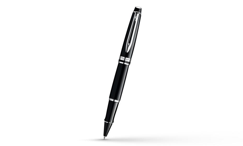 Чернильная ручка Waterman Expert 3 Black Laque CT, черный лак, хром  S0951780