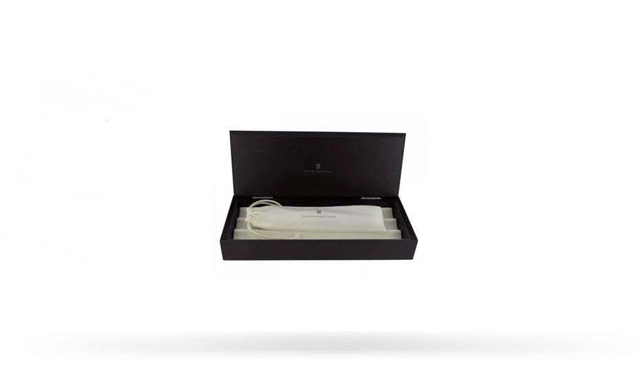 Чернильная ручка Graf von Faber-Castell Guilloche Black, драгоценная смола, платина  146510