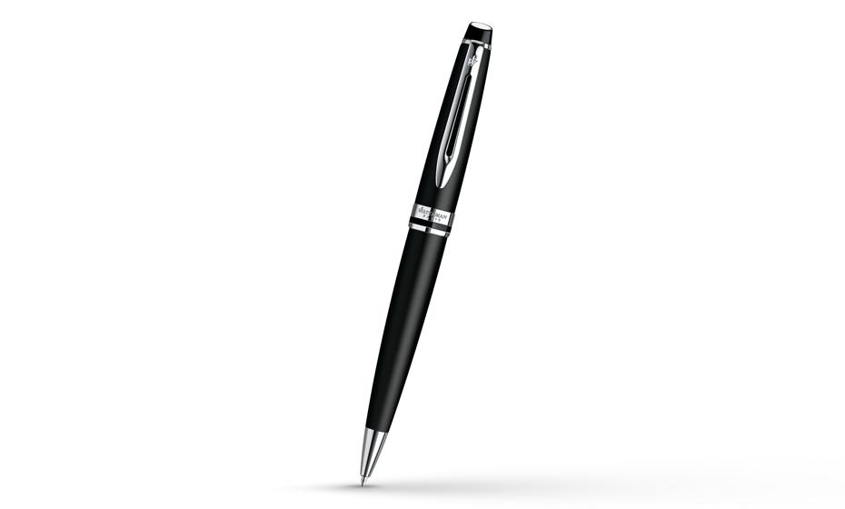 Шариковая ручка Waterman Expert 3 Matte Black CT, черный матовый лак, хром  S0951900 3501170951903