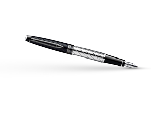 Перьевая ручка Waterman Expert 3 Precious CT, нержавеющая сталь, черный ла  S0963290