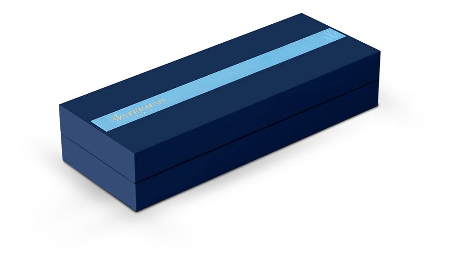 Шариковая ручка Waterman Expert 3 Precious CT, нержавеющая сталь, черный ла  S0963360 3501170963364