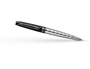 Шариковая ручка Waterman Expert 3 Precious CT, нержавеющая сталь, черный ла  S0963360