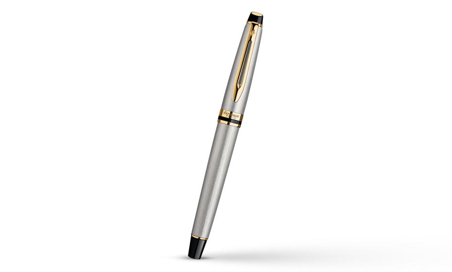 Чернильная ручка Waterman Expert 3 Essential Metallic GT, нержавеющая сталь,  S0951980 3501170951989