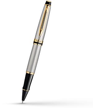 Чернильная ручка Waterman Expert 3 Essential Metallic GT, нержавеющая сталь,  S0951980