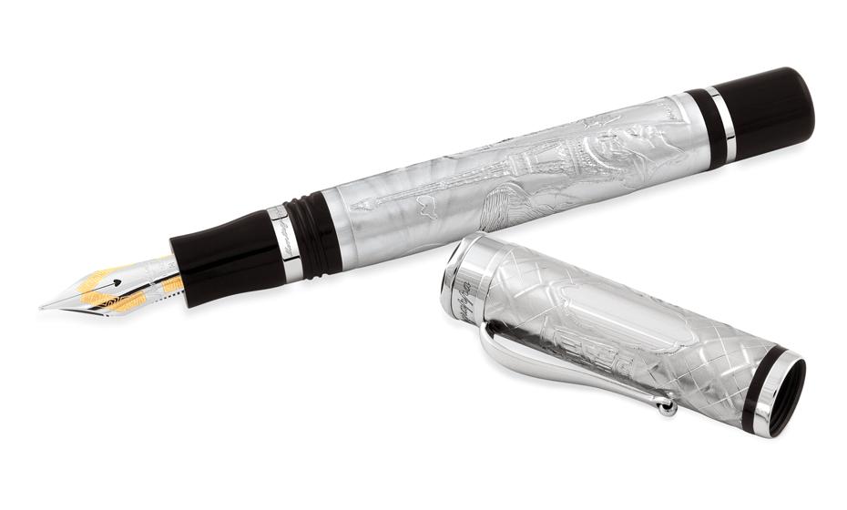 Перьевая ручка Montegrappa серебро, акриловая смола, перо из золота 18К съемн  PARIS