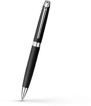 Шариковая ручка Caran d'Ache Leman Matte Black, матовый черный лак, родий  4789-496