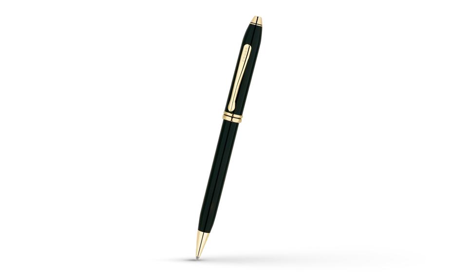 Шариковая ручка Cross TOWNSEND, эпоксидная смола, позолота 23 К  572