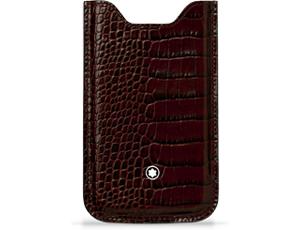 Чехол Montblanc Meisterstuck Selection, для смартфона, шоколадный  109054