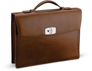 Портфель S.T. Dupont Elysee одно отделение, кожа, малый, коричневый  181100