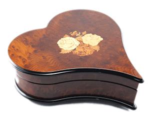 Музыкальная шкатулка Reuge Swinging Heart, дерево  AXA.36.4045.000