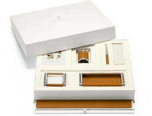 Настольный набор Graf von Faber-Castell коричневый, настольное покрытие 55 х 45 см, нож дл  118576
