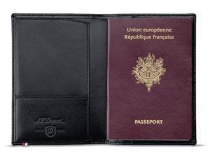 Обложка для паспорта S.T. Dupont Elysee, кожа  180012