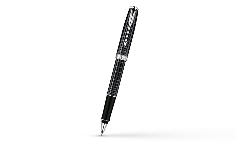 Чернильная ручка Parker Sonnet Dark Grey Laquer CT, лак, рисунок, палладий  S0912410