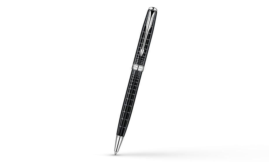 Шариковая ручка Parker Sonnet Dark Grey Laquer CT, лак, рисунок, палладий  S0912420